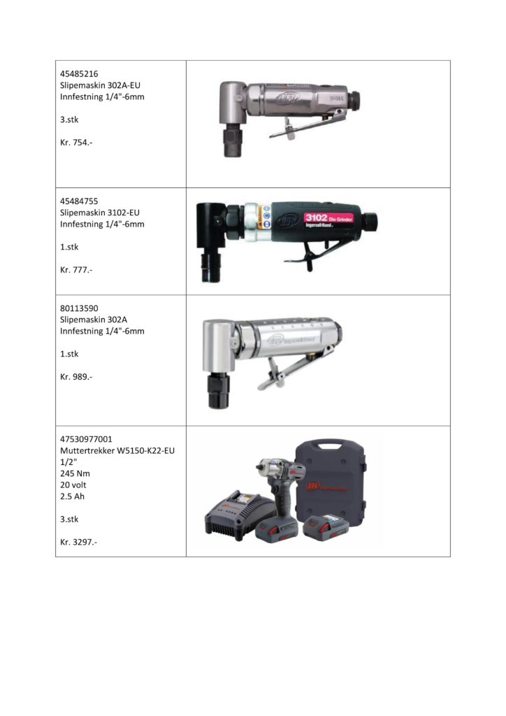 Outtlet Ingersoll Rand